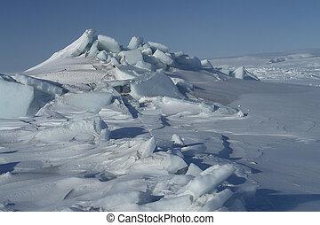 ártico, oceânicos, gelo