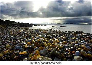 ártico, praia