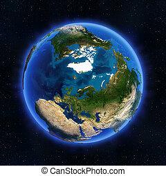 ártico, rusia, globo