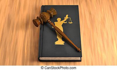 árverezői kalapács, képben látható, egy, törvénykönyv