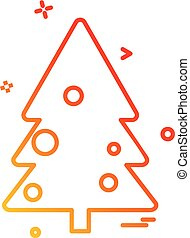 árvore, ícone, desenho, vetorial