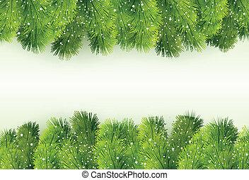 árvore abeto, natal, saudação
