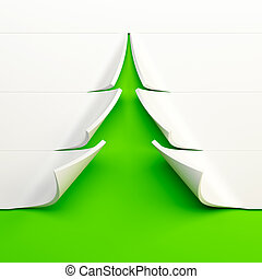 árvore abeto, simbólico, ano, novo, 3d