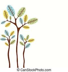 árvore, abstratos, vetorial, bandeira, desenho