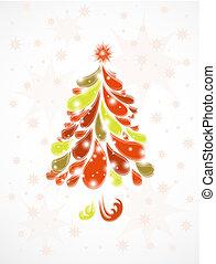 árvore., abstratos, vetorial, natal, fundo