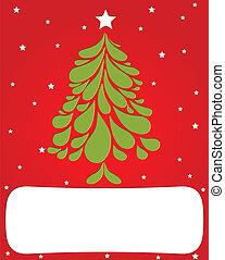 árvore., abstratos, vetorial, verde, natal