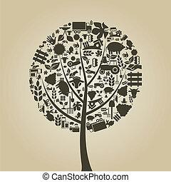 árvore, agricultura