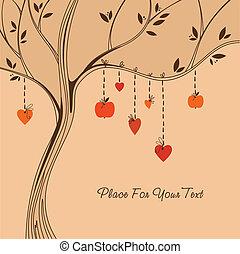 árvore., amor
