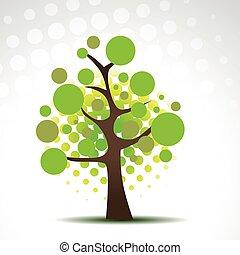 árvore, arte abstrata