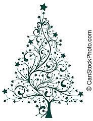 árvore, artisticos, pinho