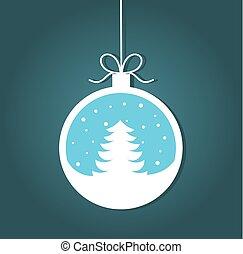 árvore, bauble natal
