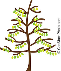 árvore, caricatura