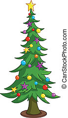 árvore, caricatura, natal