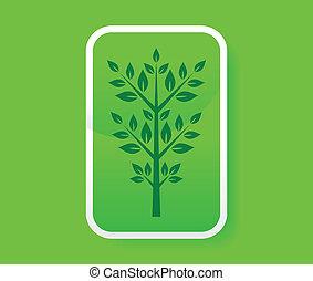 árvore, cartão