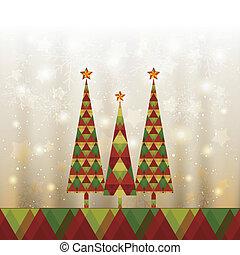 árvore, cartão natal, saudação