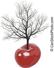 árvore cereja, de, cerejas