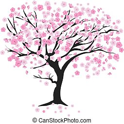 árvore cereja, vento
