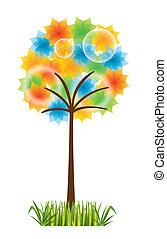 árvore, coloridos
