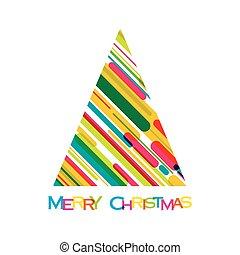 árvore, coloridos, feliz natal