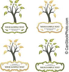 árvore, com, etiqueta