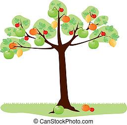 árvore, com, fruta