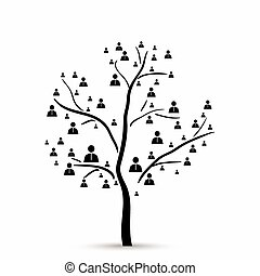 árvore, com, human