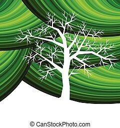 árvore, com, verde, padrão