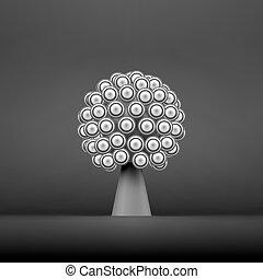 árvore., conceito abstrato, negócio