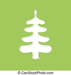 árvore., corte, laser, natal, modelo