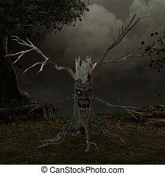 árvore, criatura