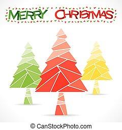 árvore, desenho, natal, feliz