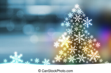 árvore, desenho, natal