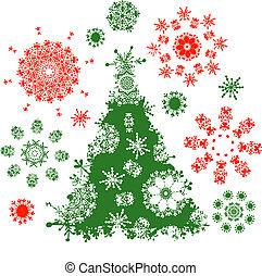 árvore, desenho, natal, seu