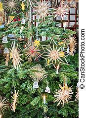 árvore, detalhe, natal