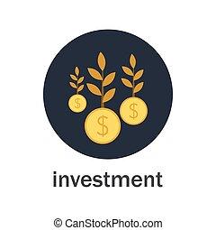 árvore dinheiro, investimento