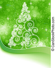 árvore, eps, halftone, 8, green., natal