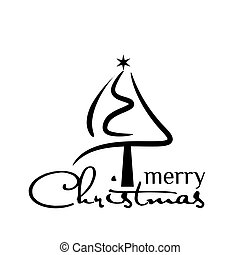árvore, experiência preta, branca, feriado, natal