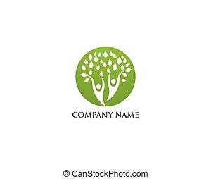 árvore, família, pessoas, logotipo, vetorial, modelo
