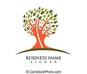árvore familiar, logotipo, modelo