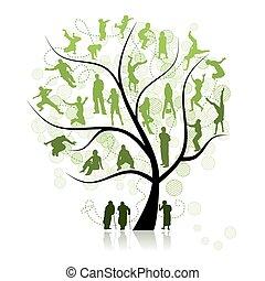 árvore familiar, parentes