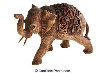 árvore., figura, elefante