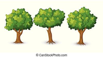 árvore grande, ilustração