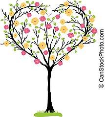 árvore, heart-shaped