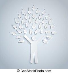 árvore, human