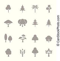 árvore, icons., -, verde, logotipos, cobrança