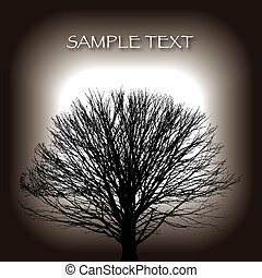 árvore inverno, fundo