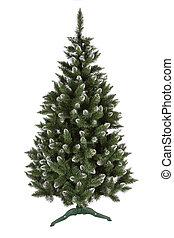 árvore, isolado, pinho, fundo, christmas branco