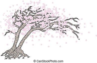 árvore, japoneses