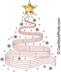árvore, música, natal