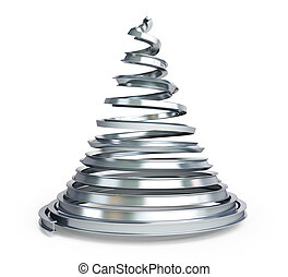 árvore, metal, natal